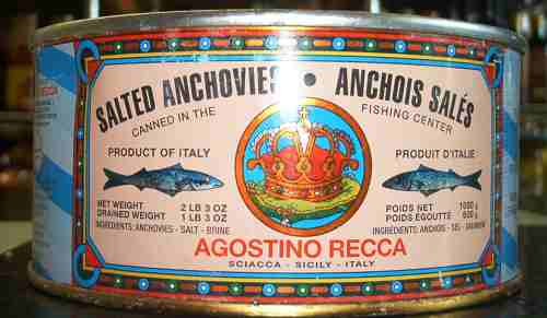 Agostina Recca salted anchovies
