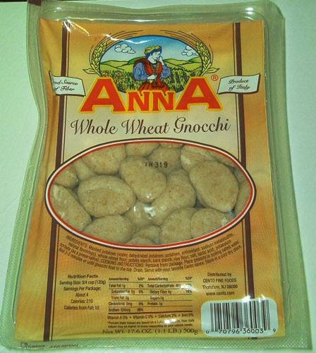 Anna Whole Wheat Gnocchi