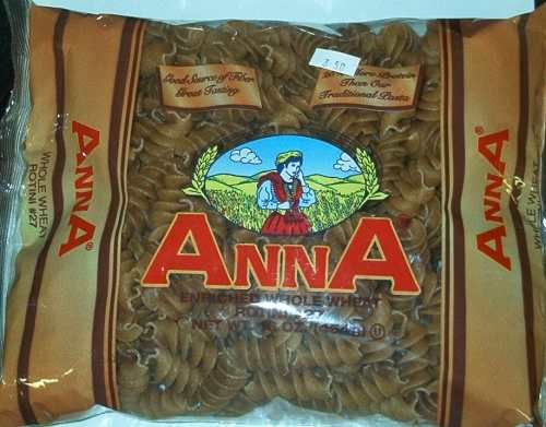 Anna Whole Wheat Rotini No. 27