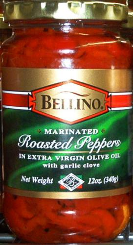Bellino Marinated Roasted Peppers in Olive Oil with Garlic