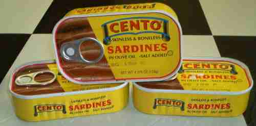Cento skinless and boneless sardines in olive oil