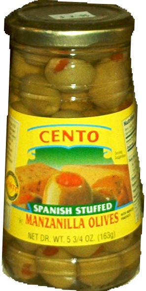 Cento Spanish Stuffed Manzanilla Olives