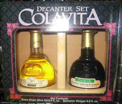 Colavita Balsamic Vinegar Plus Olive Oil Decanter Set