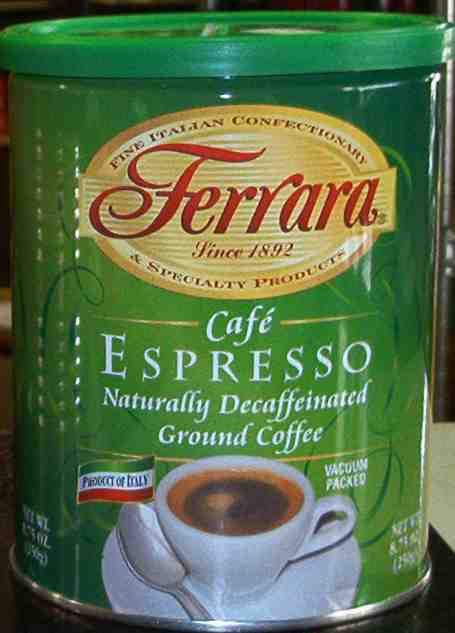 Ferrara Decaffeinated Ground Espresso