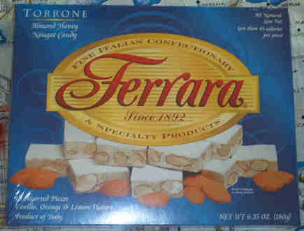 Ferrara Torrone - 18 pieces - Vanilla, orange, lemon