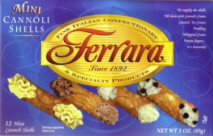Ferrara cannoli shells, mini