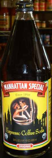 Manhattan Special Espresso Coffee Soda, 28 oz.