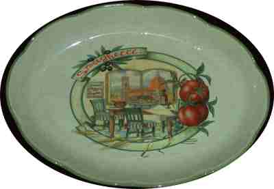 Oval Pasta Serving Bowl - Scene of Florence