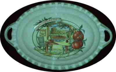Oval Pasta Serving Bowl with handles - Roma Scene