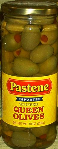 Pastene Imported Stuffed Queen Olives