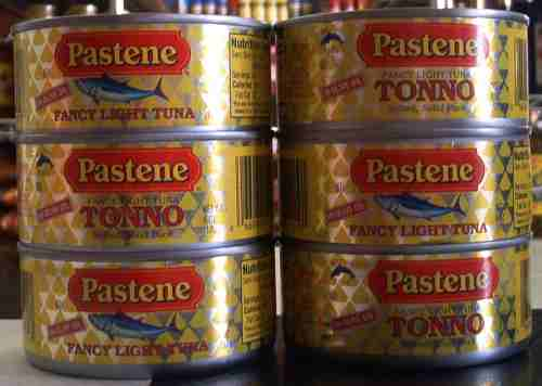 Pastene fancy light tuna in olive oil, 6 oz.