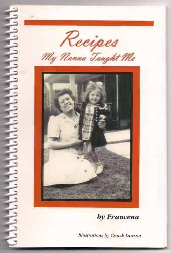 Recipes My Nonna Taught Me signed by author Francena
