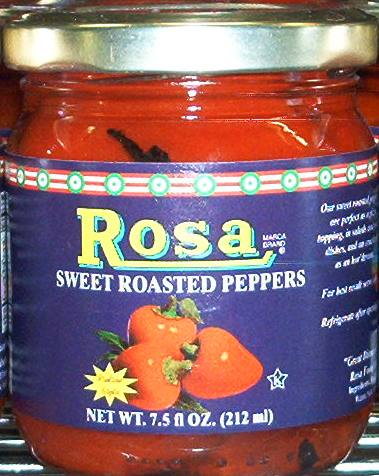 Rosa Sweet Roasted Peppers, 7.5 oz.