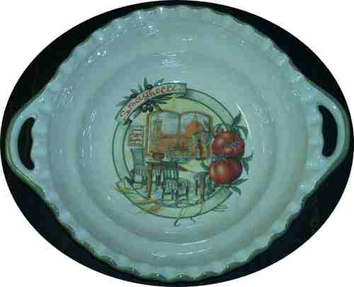 Round Pasta Serving Bowl with handles - Scene of Florence