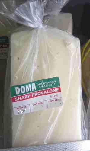 Imported Provolone, sharp, Wedge 1 lb.