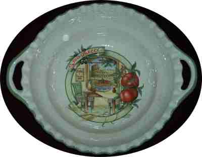 Round Pasta Serving Bowl with Handles - Rome Scene